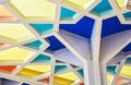 Futuristic colorful geometric ceiling Royalty Free Stock Photo
