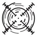 stock image of  Futuristic crosshair icon, simple style