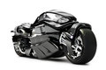 Futuristic custom motorcycle concept on a white background Royalty Free Stock Images