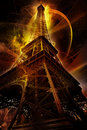 Futuristic Eiffel tower
