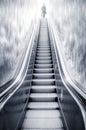 Futuristic Escalator Between W...