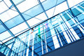 Futuristic glass office building Royalty Free Stock Photo