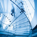 Futuristic glass staircase Royalty Free Stock Photo