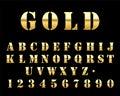 Futuristic Gold Stencil Font