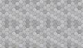 Futuristic hexagonal aluminum tiled seamless texture alunimun tiles as a high detail background Stock Images
