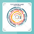 Futuristic hud, Modern techno circle, interface vector eps 10 Royalty Free Stock Photo