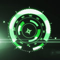 Futuristic HUD Target UX UI Interface.