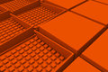Futuristic industrial background made from orange square shapes