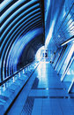 Futuristic interior bridge Royalty Free Stock Photo