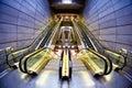Futuristic interior of metro station Royalty Free Stock Photo