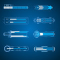 Futuristic loading elements in vector Royalty Free Stock Image