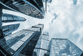 Futuristic modern skyscrapers of glass and metal Royalty Free Stock Photo