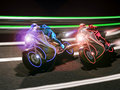 Futuristic motorcycle race Stock Photography