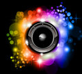 Futuristic Music Disco Background Royalty Free Stock Photos