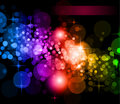 Futuristic Rainbow Lights Background Stock Photos