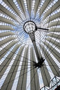 Futuristic roof at Sony Center, Berlin Royalty Free Stock Photos