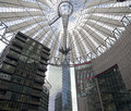 Futuristic roof at sony center potsdamer platz berlin germany Stock Photos