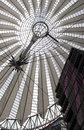 Futuristic roof at sony center potsdamer platz berlin germany Royalty Free Stock Photography