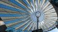 Futuristic roof at Sony Center, Potsdamer Platz, Berlin, Germany