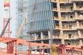 Futuristic skyscraper construction site Royalty Free Stock Photo