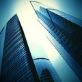 Futuristic skyscrapers Royalty Free Stock Photos