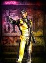 Futuristic soldier manga secret agent Royalty Free Stock Photos