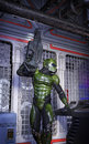 Futuristic Soldier With Rifle