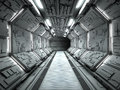 Futuristic spaceship interior Royalty Free Stock Photo