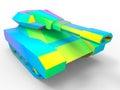 Futuristic tank - rainbow illustration