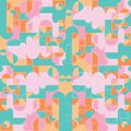 Colorful Modern Geometric Back...