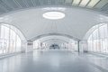 Futuristic terminal interior Royalty Free Stock Photo