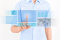 Futuristic Touchscreen Interface Royalty Free Stock Photos