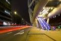 Futuristic tram tube Stock Photo