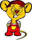Fuuny yellow mouse Royalty Free Stock Images