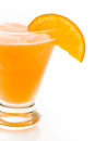 Fuzzy naval cocktail with orange wedge as a garnish Royalty Free Stock Photography