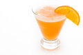 Fuzzy naval cocktail with orange wedge as a garnish Stock Images