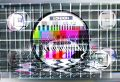 Fuzzy tv test card Stock Image