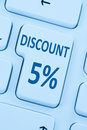 5% fve percent discount button coupon sale online shopping inter Royalty Free Stock Photo