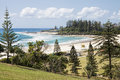FView of Coolangatta beach and Snapper Rocks from Kirra Point Lookout, Gold Coast Royalty Free Stock Photo