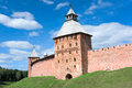 Fyodorovskaya tower - Novgorod Kremlin Stock Photography