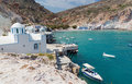 Fyropotamos milos island cyclades greece view of village and beach Royalty Free Stock Image