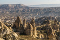 Göreme view with valley and mountains Royalty Free Stock Photo