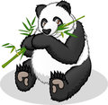 Géant de haute qualité panda cartoon vector illustration Photos libres de droits