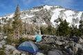 Góry campingowe Zdjęcia Royalty Free