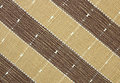 Görat randig brunt tyg texturerar Royaltyfri Foto