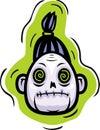 Głowa zombie Zdjęcie Stock