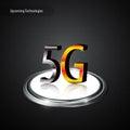 G communication telecoms metallic logo technology innovation concept eps vector Stock Photo