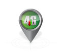G pointer locator illustration design over a white background Royalty Free Stock Photos