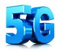 5G wireless communication technology symbol Royalty Free Stock Photo