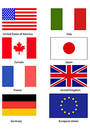 G8 Flags Royalty Free Stock Photography